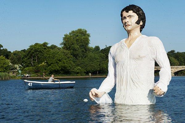 Colin Firth statue in Hyde Park
