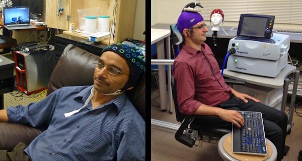 Brain-to-brain experiment participants