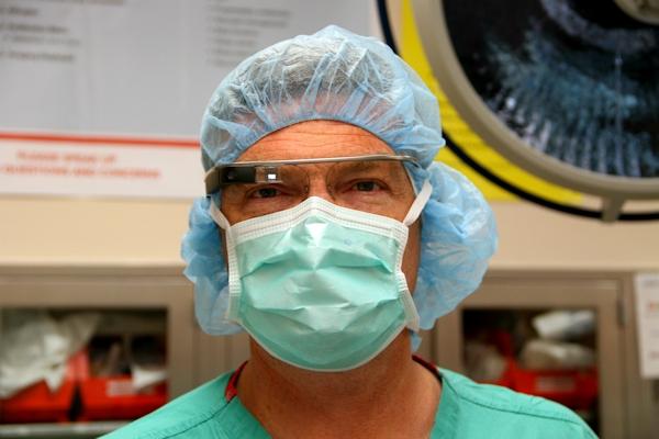 Dr. Kaeding wears Google Glass