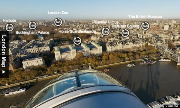 London Eye Visualise interactive tour
