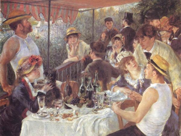 Renoir's Le déjeuner des canotiers (Luncheon of the Boating Party)