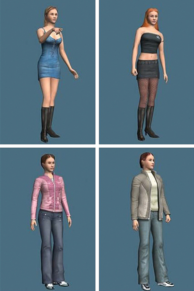 Sexualized and nonsexualized avatars