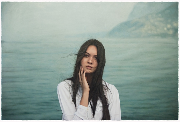 Oil painting by Yigal Ozeri: Untitled; Aquabella, 2011