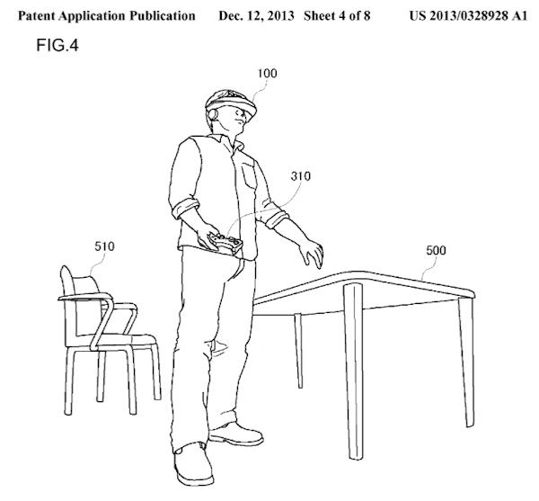 Sony HMD patent figure