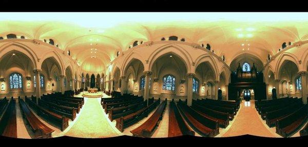 Omni-directional image of inside of Villanova's chapel