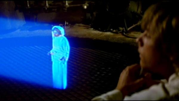 3D hologram in Star Wars