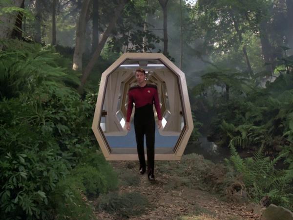 Riker entering holodeck
