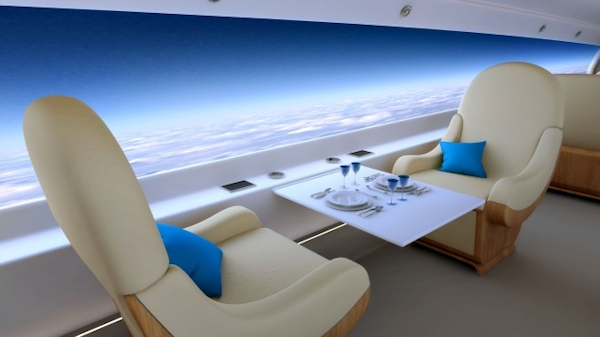 Spike erospace's Jet interior screen that replaces windows