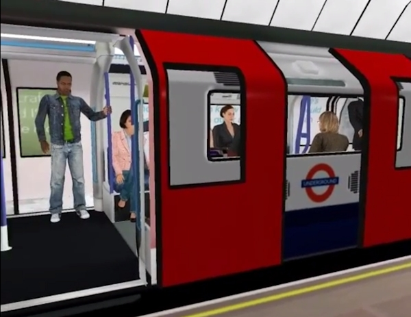 Virtual London Tube from height and paranoia study