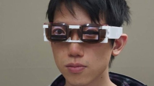 Prof. Osawa wearing Cyborg glasses