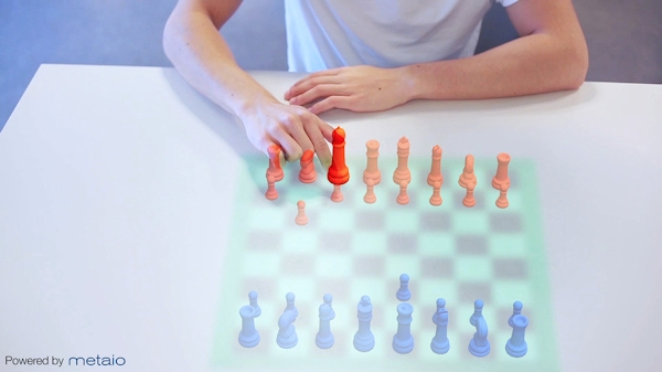 Playing chess with Metaio's thermal touch AR
