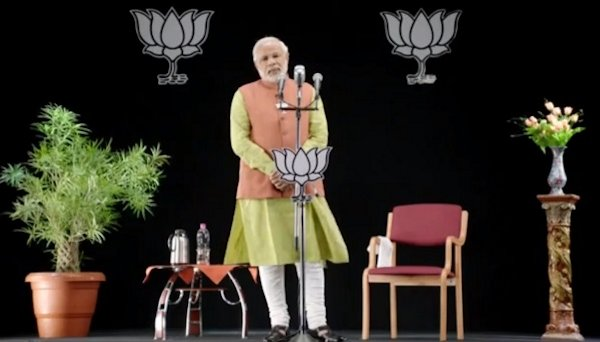 Modi projection at rally