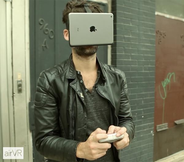 Man wearing AirVR