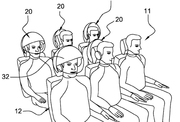 Airbus VR patent drawing