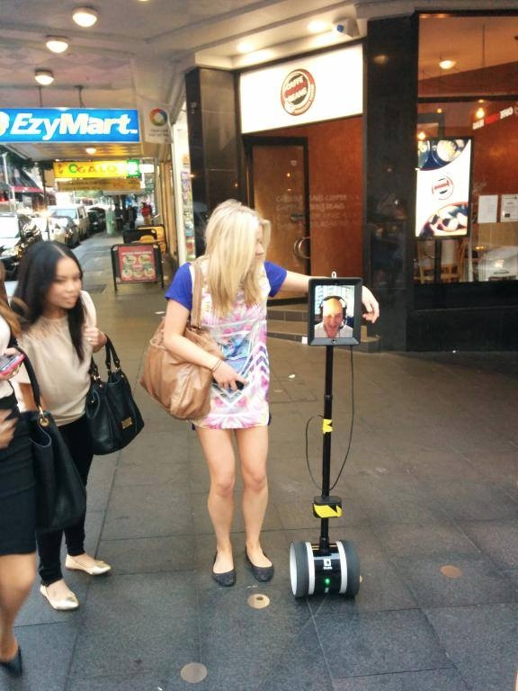 Cruising on Sydney's George Street with the TP robot