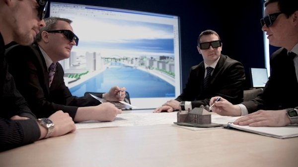 Business conference includes virtual tour