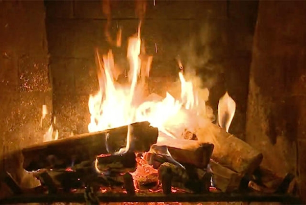 Yule log screenshot
