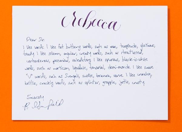 Letter handwritten by Bond robot