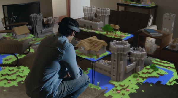 Microsoft's Hololens - Minecraft demo