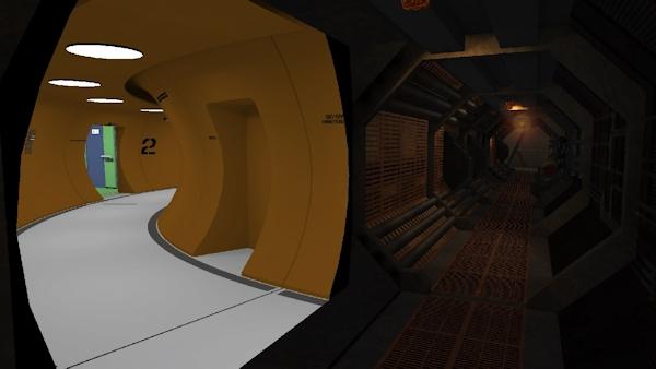 A sci-fi corridor