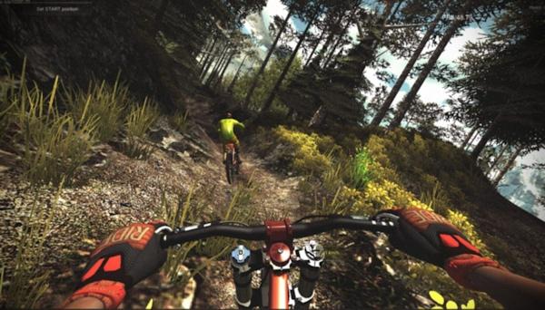 VR mountain biking with Oculus Rift