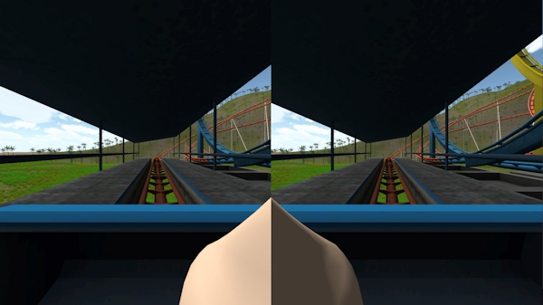Simulator with virtual nose