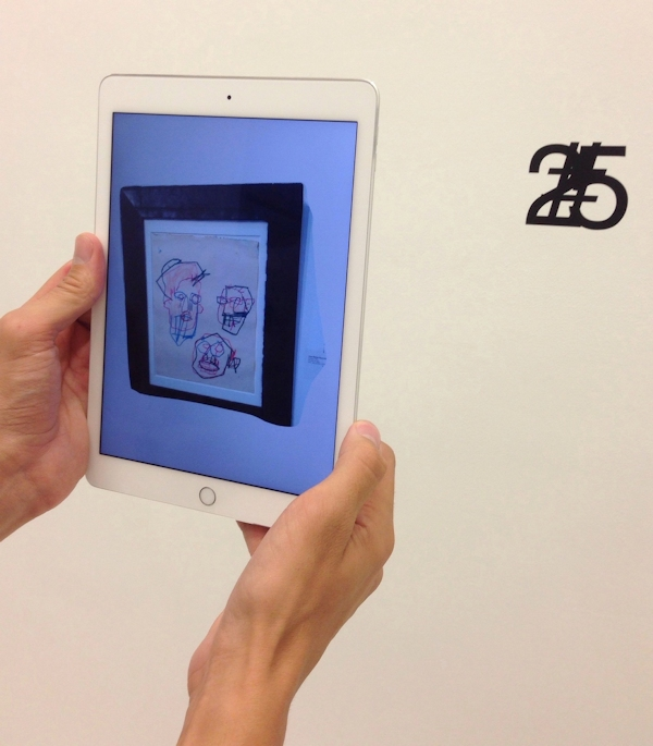 Viewing Jean-MIchel Basquiat's art via AR