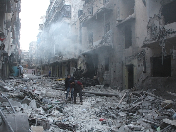 Allepo Syria bomb aftermath