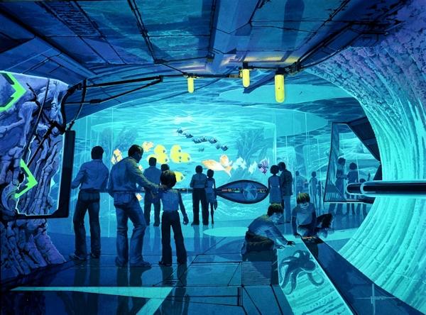 Concept art for Landmark's VR-AR aquarium