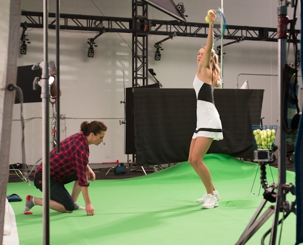 Maria Sharapova on VR set