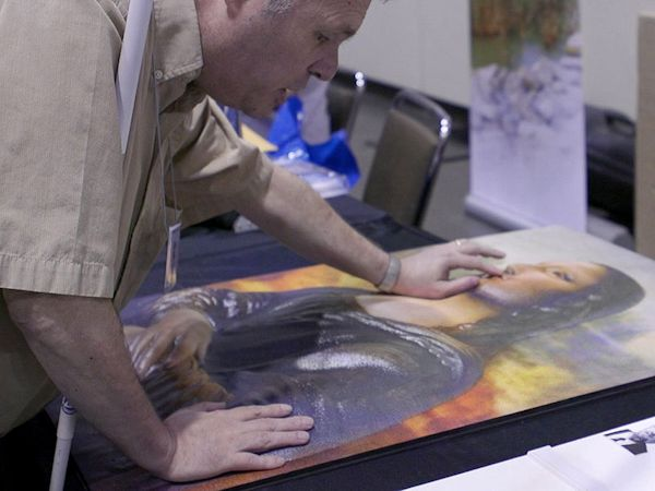 3D Photoworks: Man with Mona Lisa