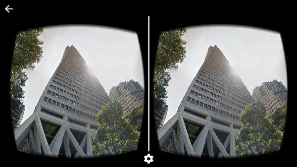 Google Street View via Cardboard - San Francisco's Transamerica building