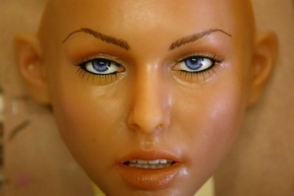Female robot face