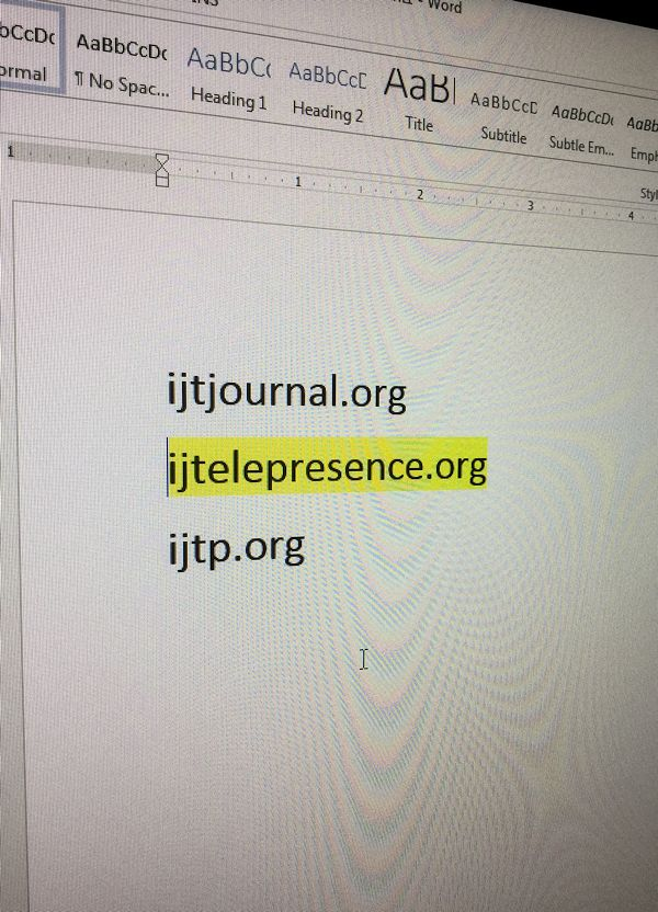 IJTelepresence preview