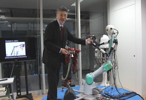 Prof. Susumu Tachi with TELESAR-V