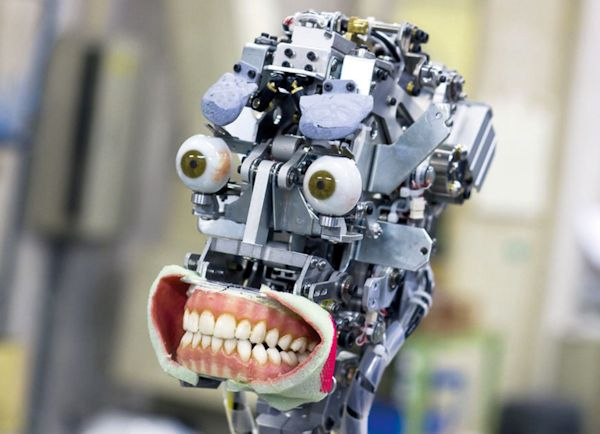 Robotic skeleton of Geminoid DK, an android developed by Dr. Henrik Scharfe