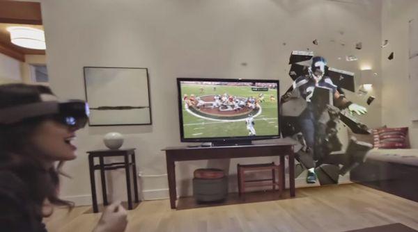 Future football via Microsoft HoloLens (screenshot)