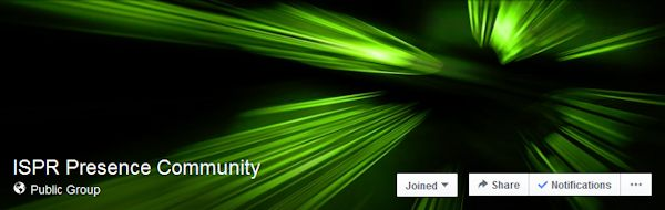 ISPR Presence Community Facebook group header