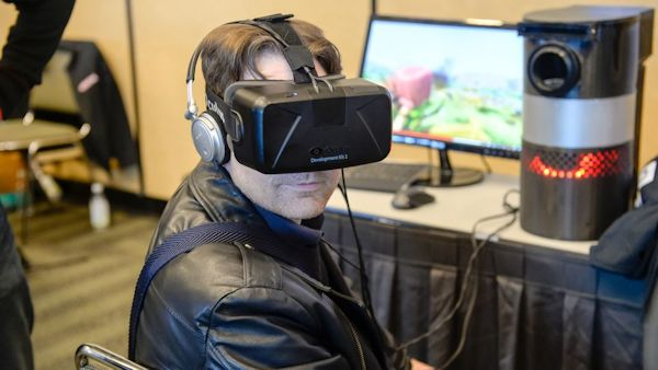 Man in VR at GDC 2016