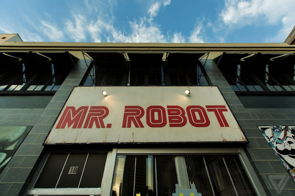 Mr. Robot building sign