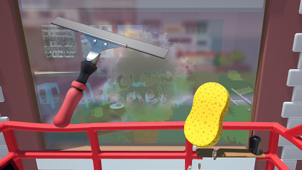 Pane in the Glass window washing game screenshot