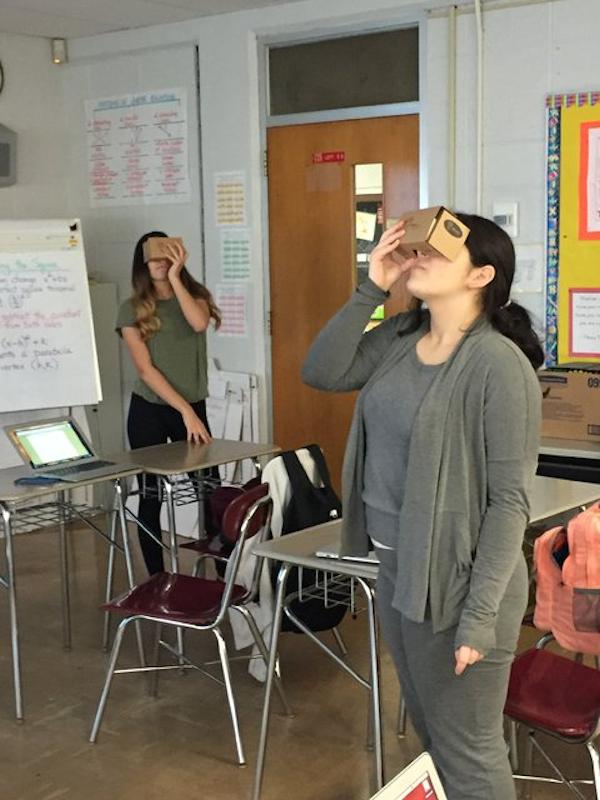 Cayne Letizia uses Google Cardboard in the classroom