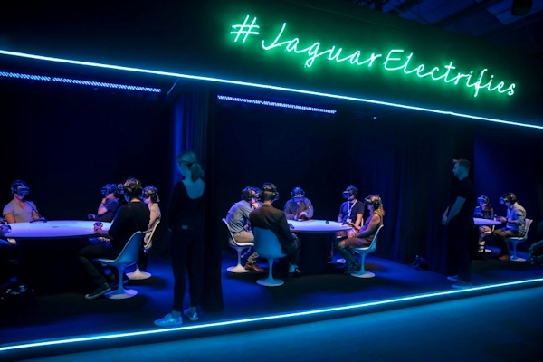 Jaguar I-PACE VR launch - group at tables