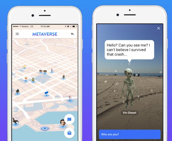 Metaverse AR app screenshots