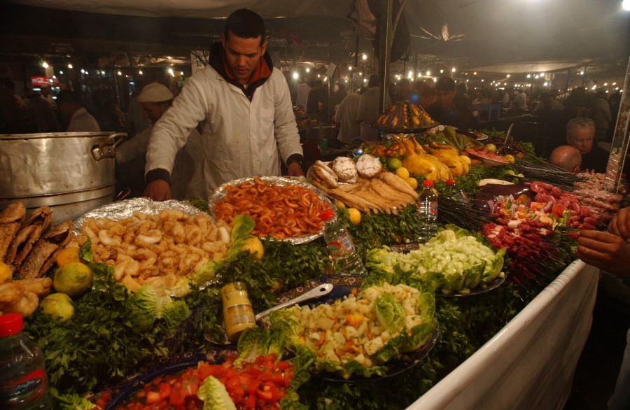 Djemaa El Fna, Marrakesh, Morroco, North Africa.  January 2008.