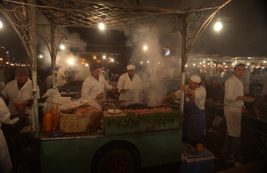 Night market, Djemaa al Fna, Marrakesh, Morocco.  January 2008.