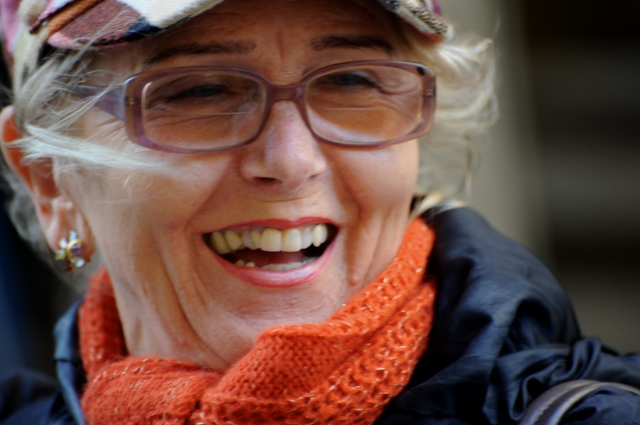 A good laugh; Cortona, Italy.  November 2009.