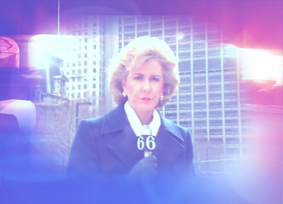 Cathy Gandolfo reporting for channel 6 in the 90s