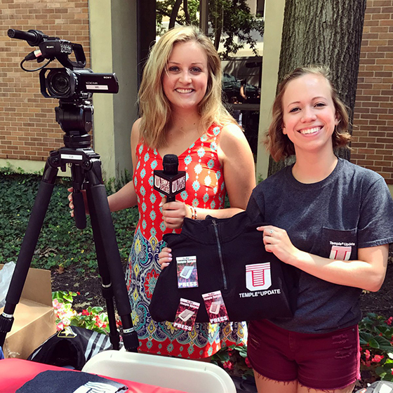 Temple Update student reporters