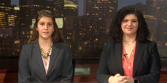 Lo Último hosts Karly Matthews and Monica Logroño